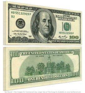 100 dolarów, kurs walut, notowania dolara