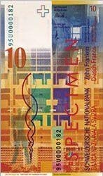 10 franków szwajcarskich, frank, waluta, wymiana walut