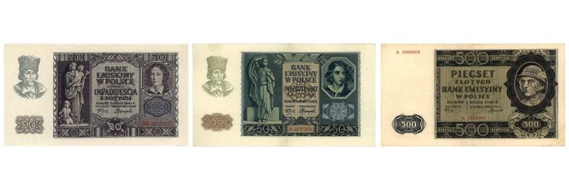 Mlynarki, banknoty Banku Emisyjnego