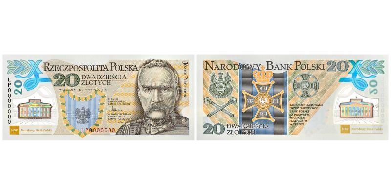 Polskie banknoty w konkursach - 20zł Józef Piłsudski