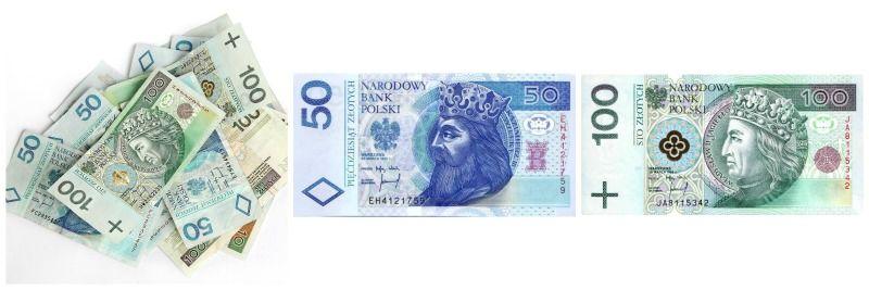 Polskie banknoty - 100zł i 50zł