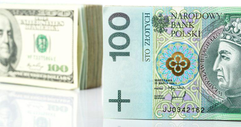 euro, dolar, złoty