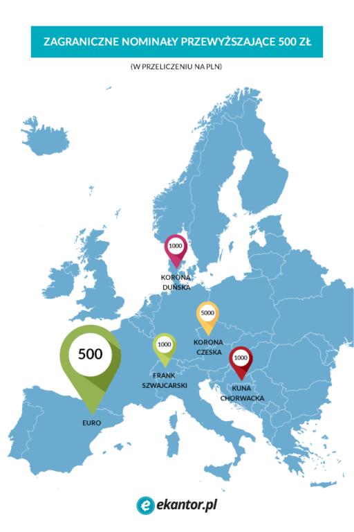 mapa nominałów