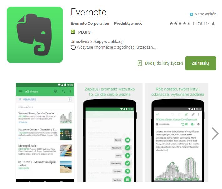 evernote, aplikacja, biznes, Ekantor.pl
