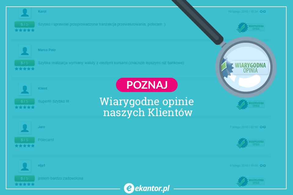 opinie, kantor internetowy, Opineo, Ekantor.pl