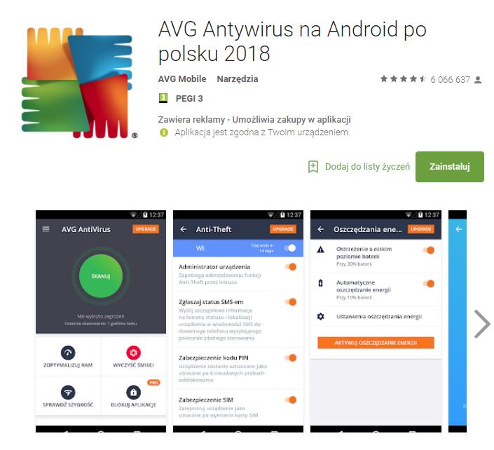 AVG, antywirus, aplikacja, android, Ekantor.pl