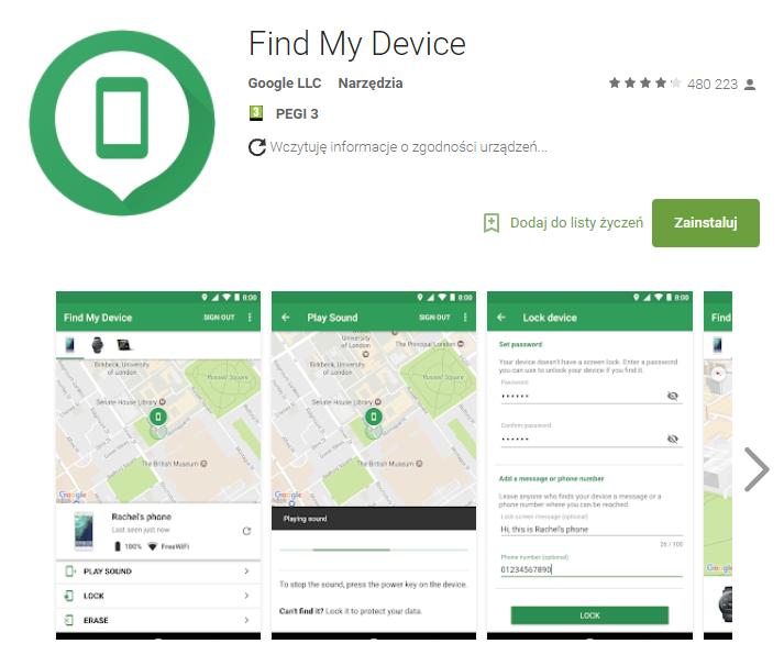 find my device, bezpieczeństwo, smartfon, aplikacja, Ekantor.pl