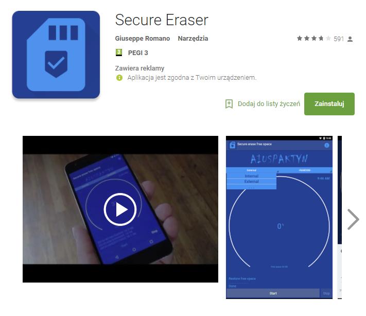 secure eraser, zabezpieczenie, android, smartfon, Ekantor.pl