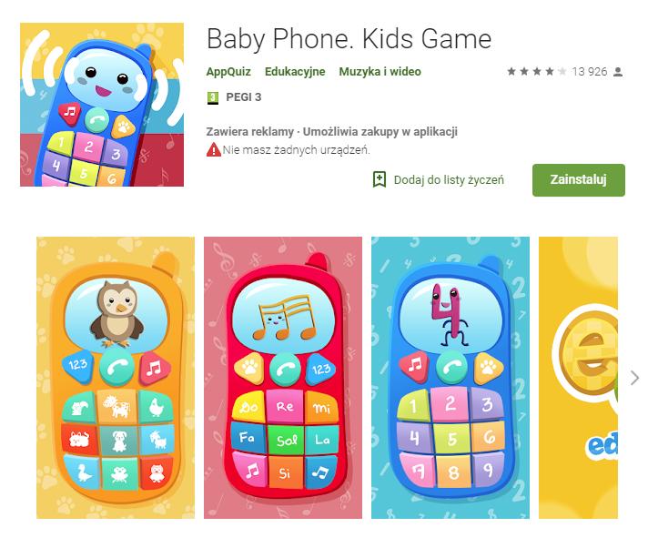 baby phone, aplikacje, android, Ekantor.pl