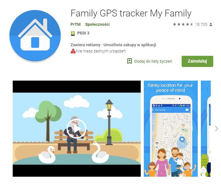 family gps tracker my family, aplikacje, android, Ekantor.pl