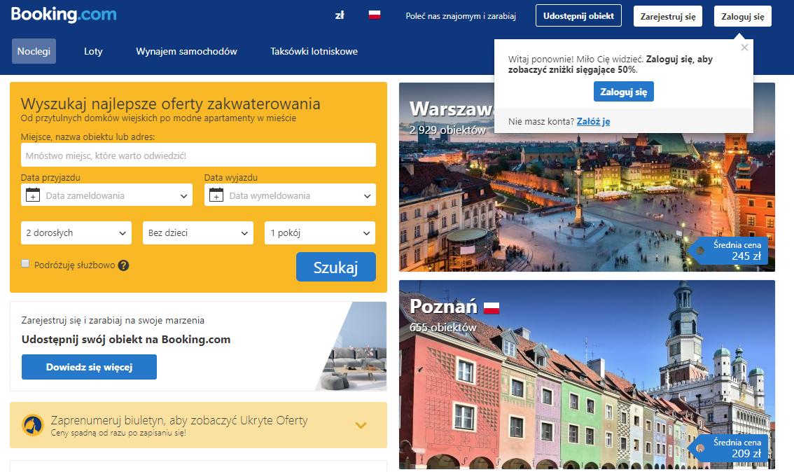 Booking, rezerwacja noclegów, rezerwacja domków, Ekantor.pl