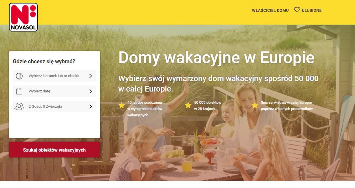 Novasol, domy, rezerwacja noclegów, Ekantor.pl