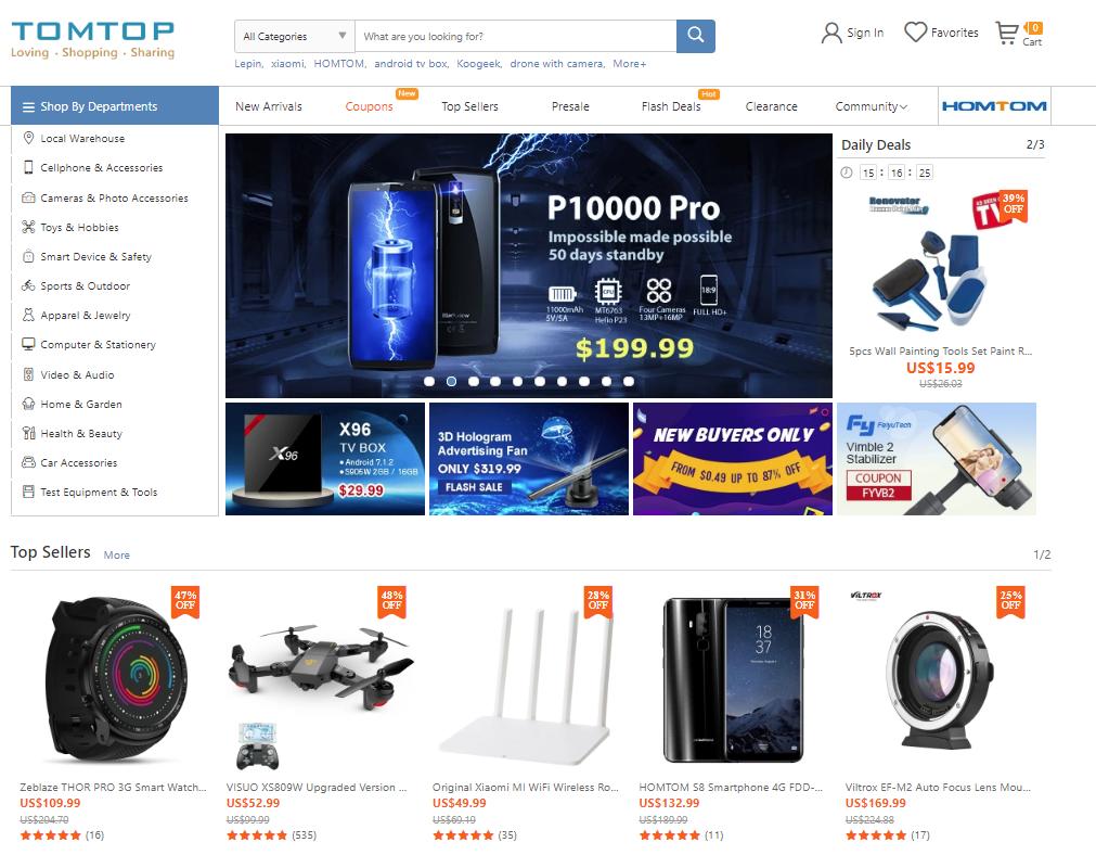 TOMTOP, zakupy z Chin, zakupy online, Ekantor.pl