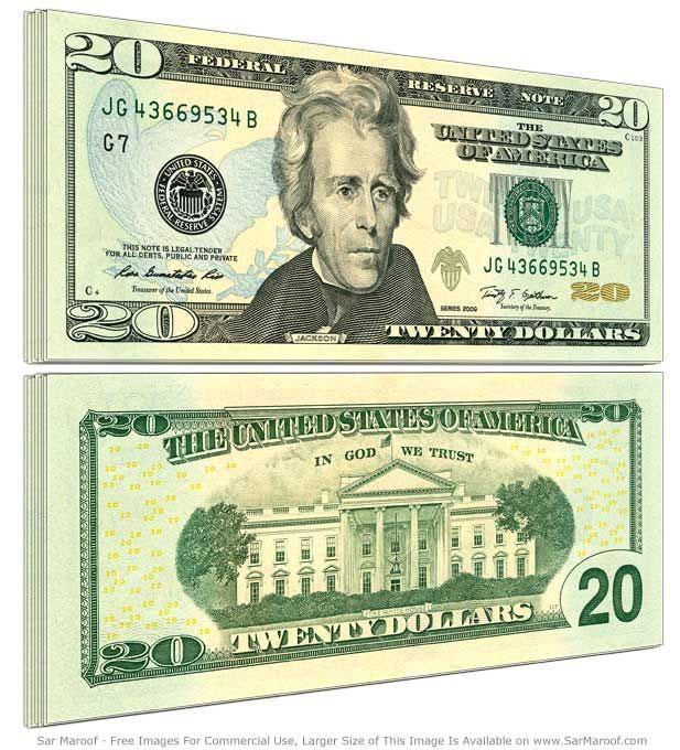 20 dolarów, dolar, dolar amerykański, USD, wymiana dolara, kurs dolara, sprzedaż dolara, dolar kupno, Ekantor.pl
