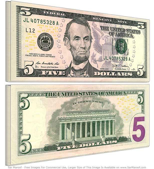 5 dolary, dolar, dolar amerykański, USD, wymiana dolara, kurs dolara, sprzedaż dolara, dolar kupno, Ekantor.pl
