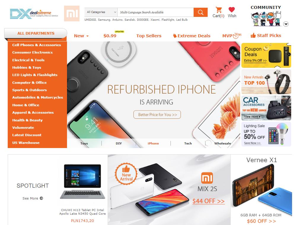 dx, deal extreme, zakupy, zakupy z chin, zakupy online, Ekantor.pl