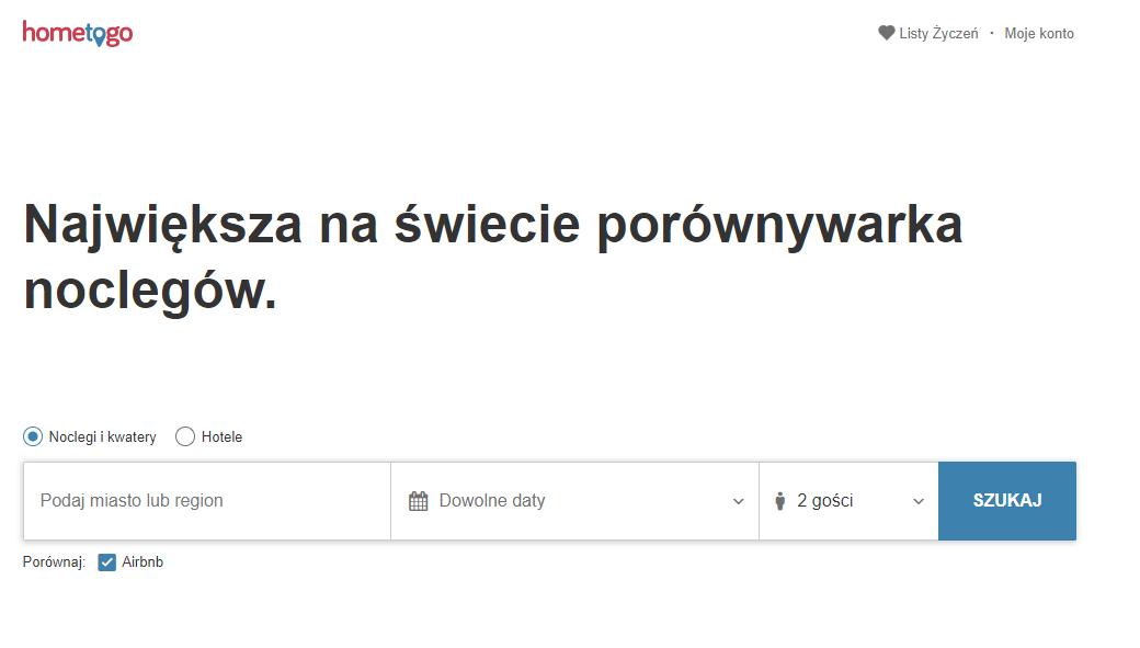 hometogo, nocleg, rezerwacja , Ekantor.pl