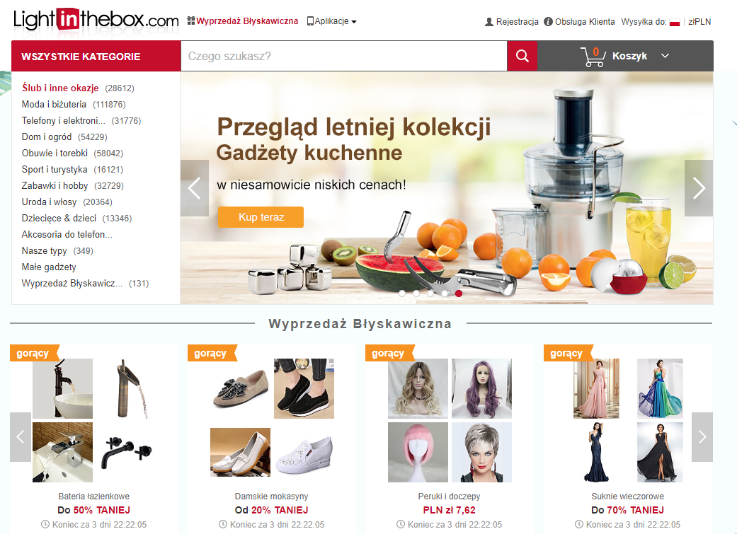 lightinthebox, zakupy, zakupy online, zakupy z Azji, Ekantor.pl