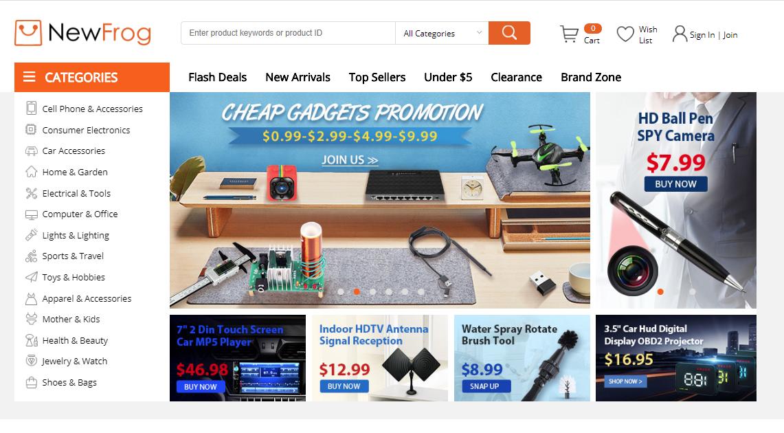 newfrog, zakupy, zakupy z Chin, zakupy z Azji, Ekantor.pl