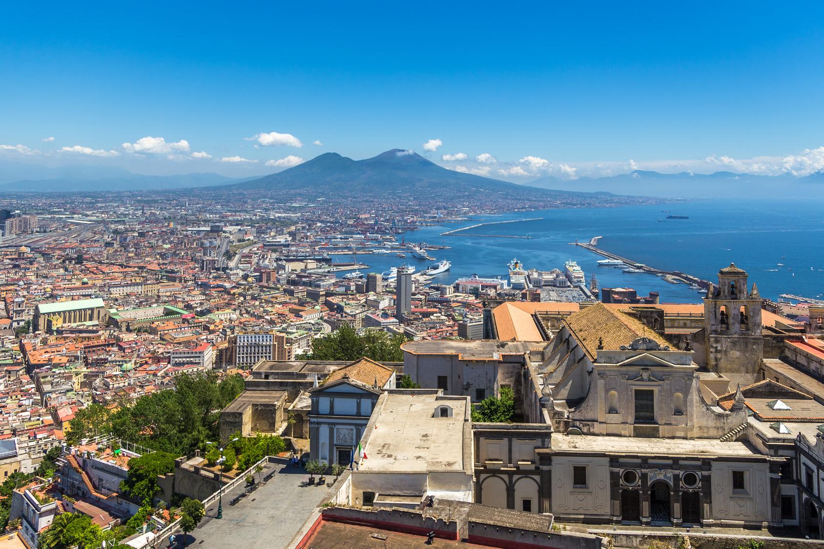Neapol, zachód słońca, podróż, Włochy, wymiana walut, Ekantor.pl