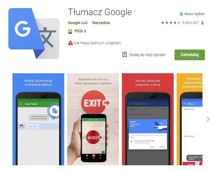 Tłumacz Google, aplikacje, aplikacja dla podróżujących, podróż, Android, Ekantor.pl