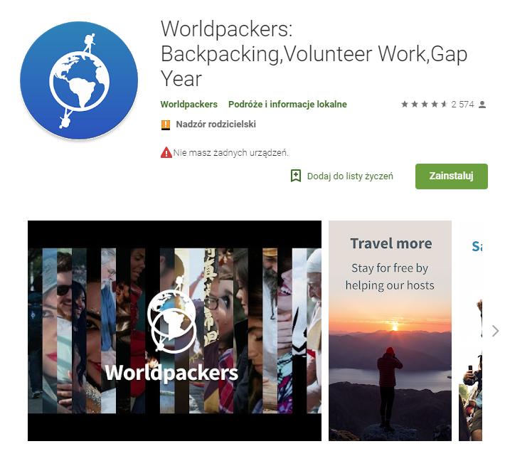 Worldpackers, noclegi, zakwaterowanie, aplikacje do rezerwacji, aplikacja na Android, Ekantor.pl