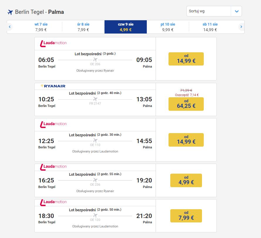 Berlin, Palma, Majorka, podróż, lot, bilet lotniczy, rezerwacja lotów, kantor internetowy, Ekantor.pl