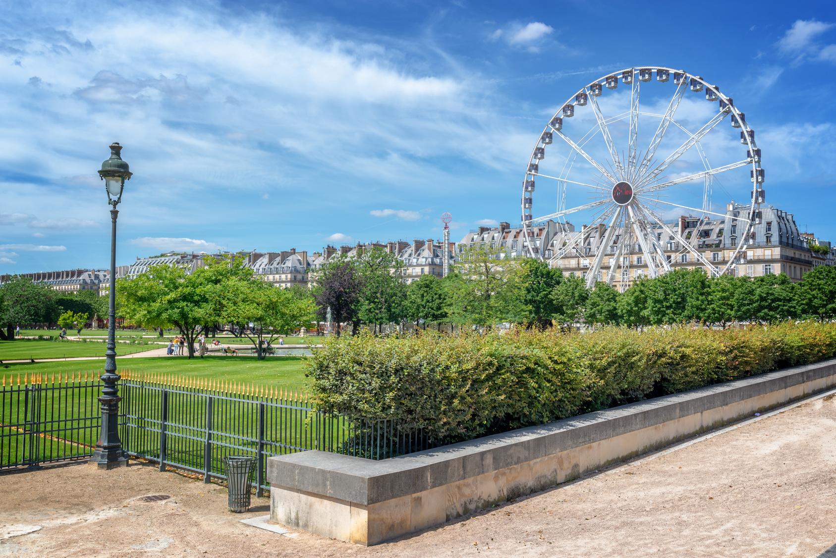 Ogrody Tuileries, Paryż, Francja, podróż, wymiana walut, Ekantor.pl