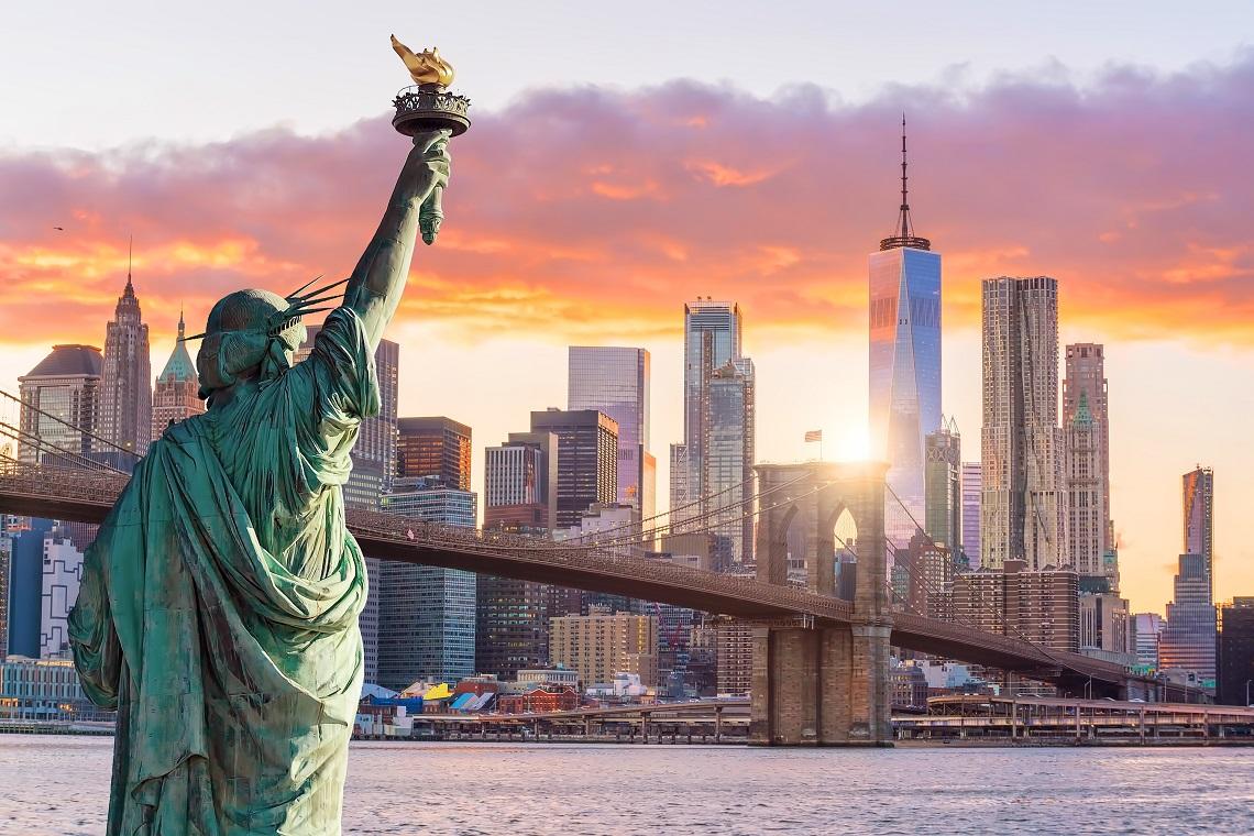 Statua Wolności, USA, Stany Zjednoczone Ameryki, podróż, wymiana walut, Ekantor.pl