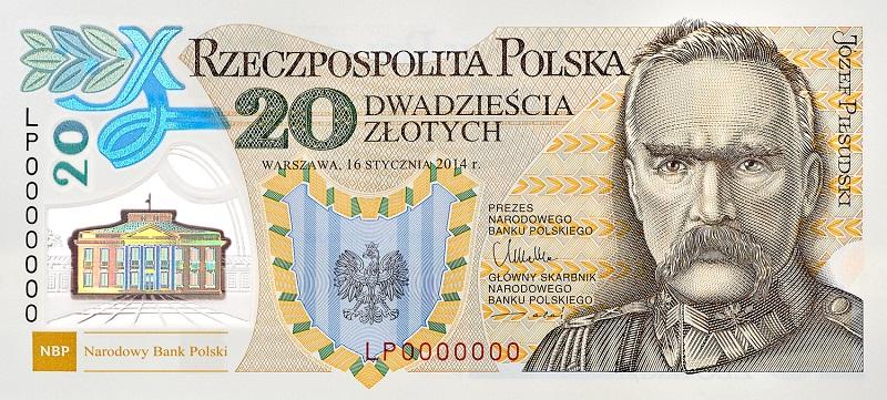 banknot, 20 zł, NBP, pieniądze, złoty, wymiana walut, Ekantor.pl