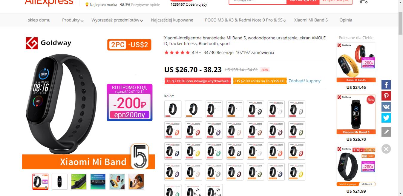 Xiaomi-Inteligentna-bransoletka-Mi-Band-5-aliexpress-ekantor-pl