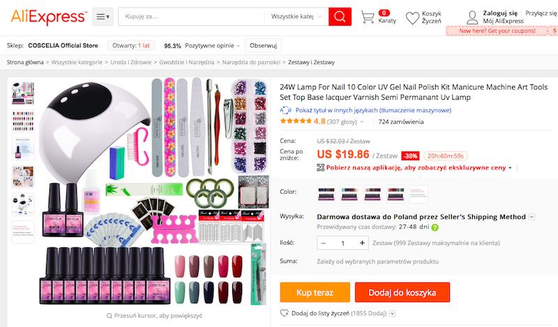 zestaw, manicure, paznokcie, prezent, prezent na święta, wymiana walut, Ekantor.pl