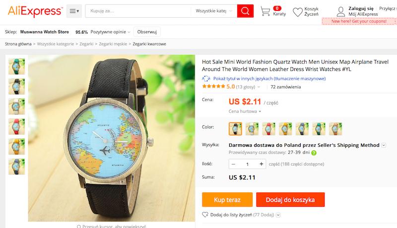 zegarek, podróże, prezent, wymiana walut, Ekantor.pl
