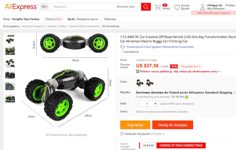samochód, zabawka, prezent, prezent dla dziecka, Ekantor.pl