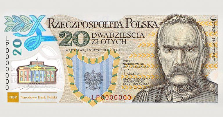 banknot, 20 zł, pieniądze, NBP, Ekantor.pl