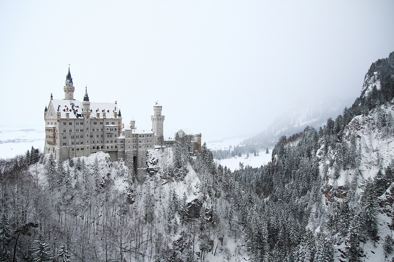 Neuschwanstein, Bawaria, podróż, podróż z dzieckiem, ferie zimowe, Ekantor.pl