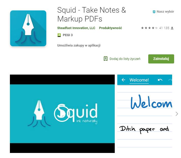 Squid Take Notes aplikacja do pracy zarządzanie czasem chat ekantor.pl
