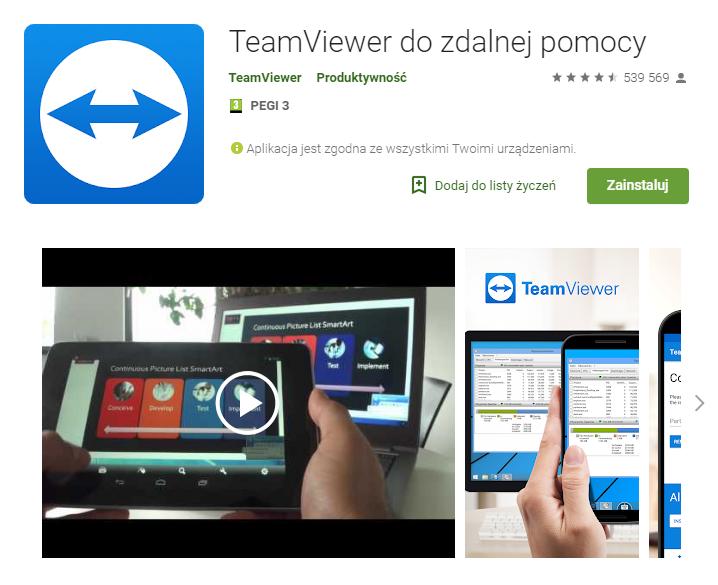 TeamViewer do zdalnej pomocy aplikacja do pracy zarządzanie czasem chat ekantor.pl
