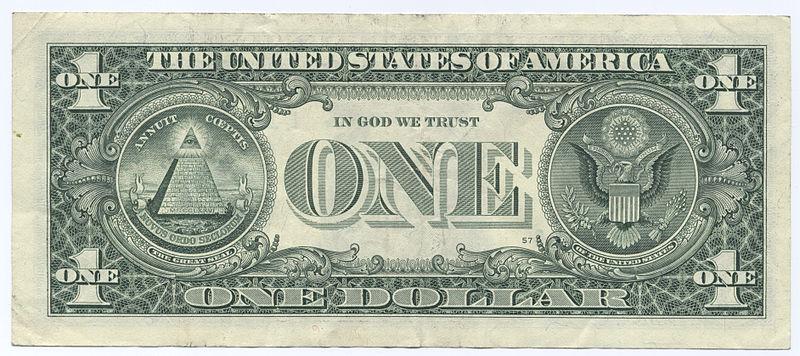 dolar -1$ - banknot ekantor.pl kantor online internetowa wymiana walut - rewers