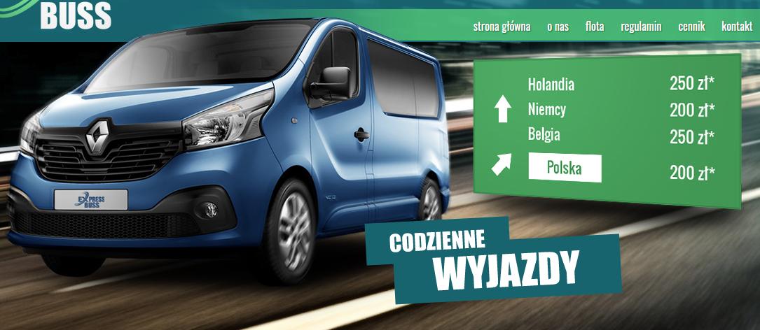 transport do Holandii bus cena praca w holandii zakwaterowanie formalności