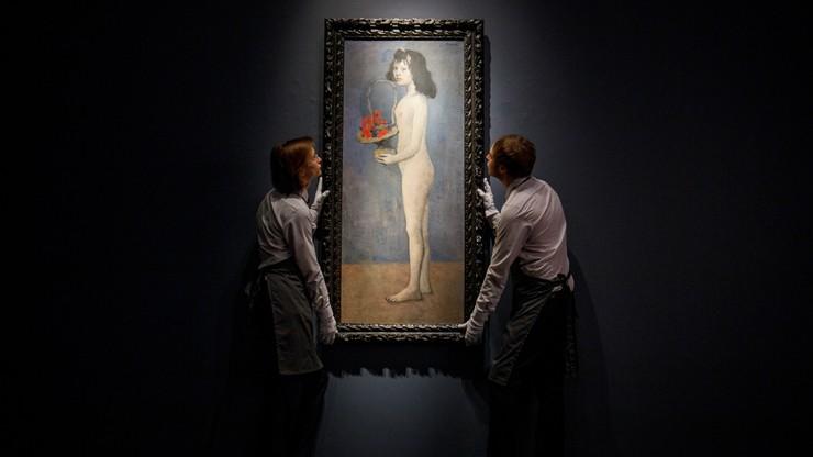 Pablo Picasso - mloda dziewczyna z koszem kwiatow - aukcja stulecia - 115 mln dolarów