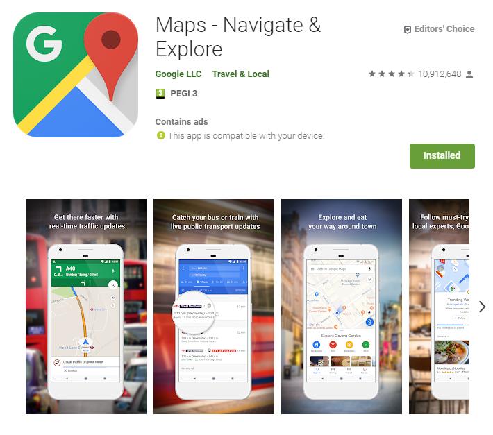 Google maps - najlepsza aplikacja do nawigacji gps - pobierz - aplikacja do nawigacji android - ekantor pl