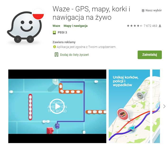 Waze - GPS mapy korki i nawigacja na żywo - najlepsza aplikacja do nawigacji gps - pobierz - aplikacja do nawigacji android - ekantor pl