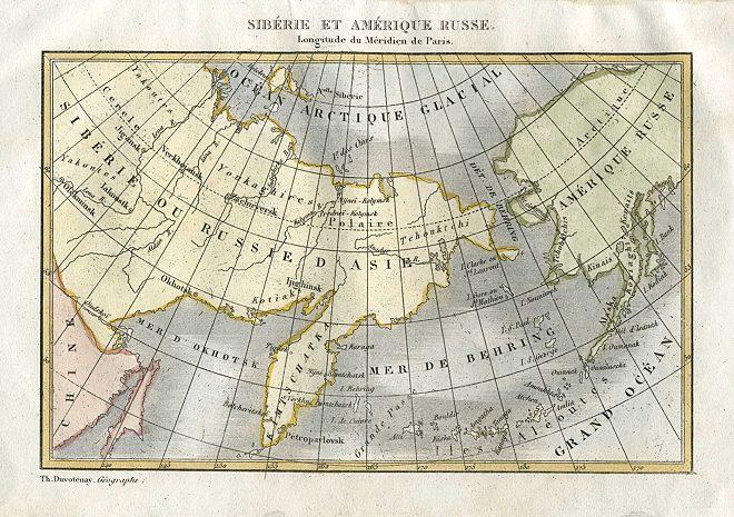 Terytorium Rosji, Syberii i Alaski w 1838 - sprzedaz alaski